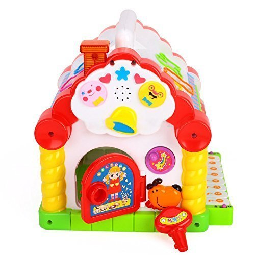 Tabu Toys World Colorful and Attractive Funny Cottage Educational Toy, Learning House - Baby Birthday Gift for 1 2 3 Year Old Boy Girl Child
