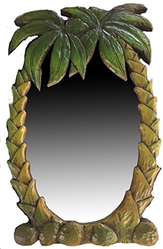 Piazza Pisano Palm Tree Tropical Decor Wall Mirror