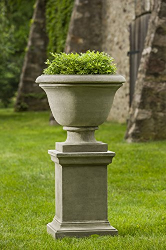 Greenwich Urn - Campania International Greenwich Urn with Pedestal, Natural Finish
