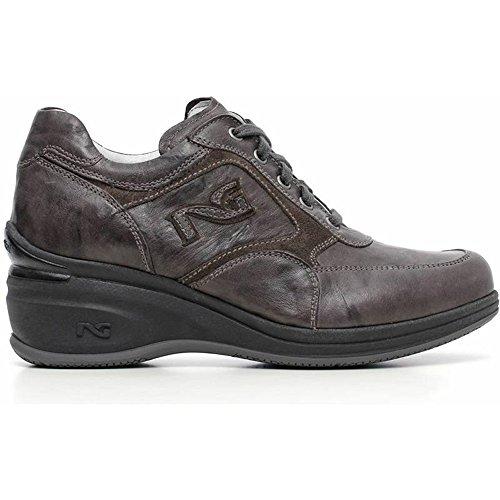 Sneaker Donna in Camoscio Grigia A616080D-109 - Nero Giardini