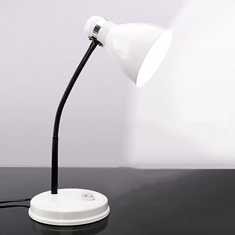 AINIOO Gooseneck Tube Desk Lamp, Flexible Hose Neck Eye Caring Table Lamps  Office Simple