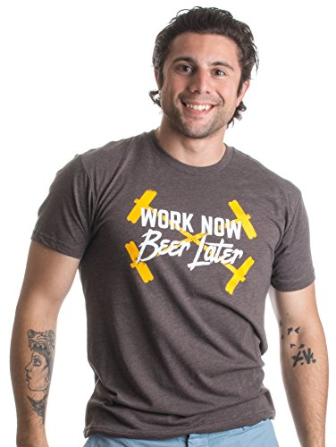 Work Now, Beer Later | Weight Lifting, Barbell Training Unisex Triblend T-shirt
