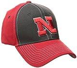 zephyr z fit hats - NCAA Nebraska Cornhuskers Men's Powerhouse Z-Fit Cap, X-Large, Charcoal/Red