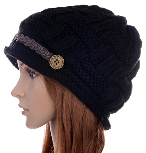 ArRord Women Winter Chunky Soft Stretch Warm Beanie Knit Hat Oversized Slouchy Cap