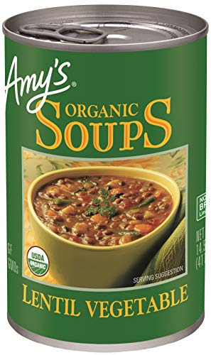 Amy#039s Organic Lentil Vegetable Soup 145 Ounce Pack of 12