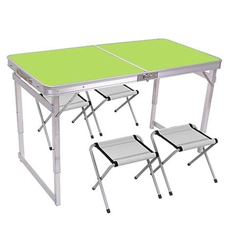 Mesa HUO Puesto Plegable Aire Libre sillas Plegables hogar ...