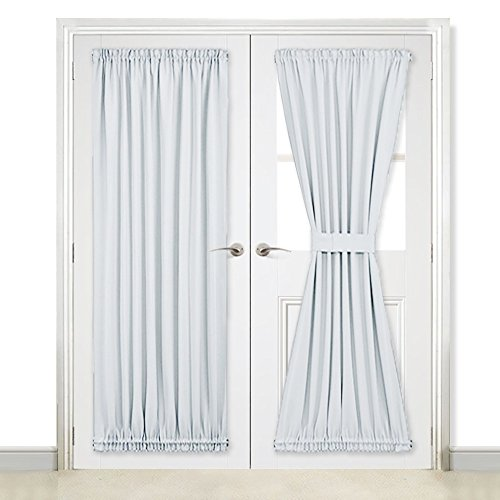 NICETOWN French Door Curtains and Draperies for Privacy - Room Darkening Patio Door Thermal Curtain Panels 54