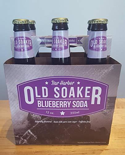 Old Soaker - Blueberry Soda (Bar Harbor, Maine) - 24 pack (12 oz) glass bottles (Blueberry Soda Maine)