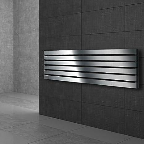 ECD Germany Stella Design Panelheizk/örper 480 x 1600 mm Heizk/örper Handtuchw/ärmer Handtuchtrockner Designheizk/örper Badheizk/örper Wei/ß