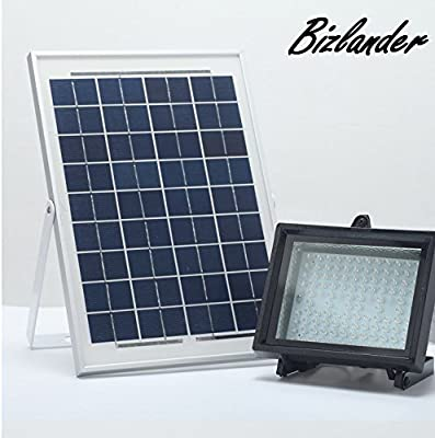 BIZLANDER [2016 NEW] Commercial Grade Solar Flood Light 108 LED Security Light AUTO-ON/OFF DUSK-TO-DAWN for Sign, Garden, Farm, Shed, Boat, Camping, Garage