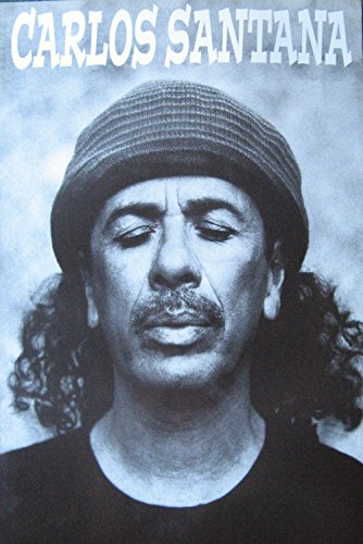 (Carlos Santana Younger Knit Cap b&w Poster 14.5 x 21 Guitar Legend (Sent from USA in PVC Pipe))