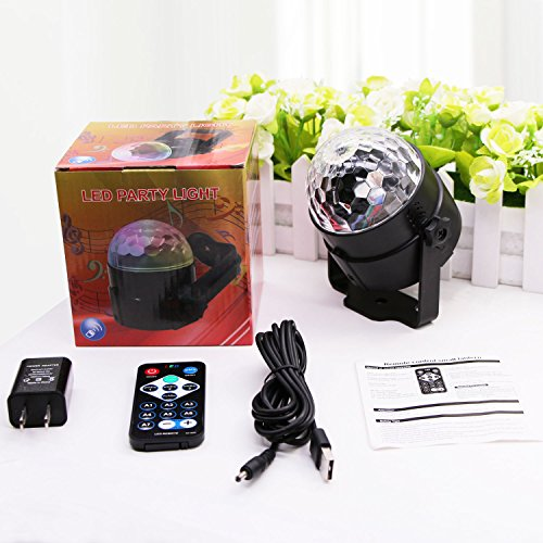 AOMEES Disco Light Party Lights Disco Ball LED Strobe Lights Sound Activated Dance Light Stage DJ Lighting for Home Kids Birthday Parties Festival Holiday Decorations Karaoke Bar Club (with USB) by AOMEES (Image #6)