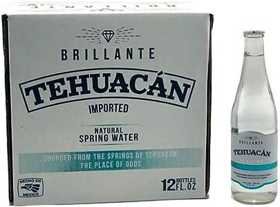 Tehuacan Brillante Agua Natural Platino Vidrio 0.355 L (12 Pzas)