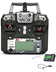 Flysky FS-i6X 10CH 2.4GHz AFHDS 2A RC Transmitter with FS-iA10B Receiver Remote Control for Rc Airplane