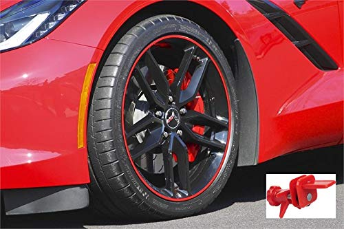 Tapeworks Red Vinyl 1/4' Wheel Rim Pin Stripes and Stripe it All Installation Tool