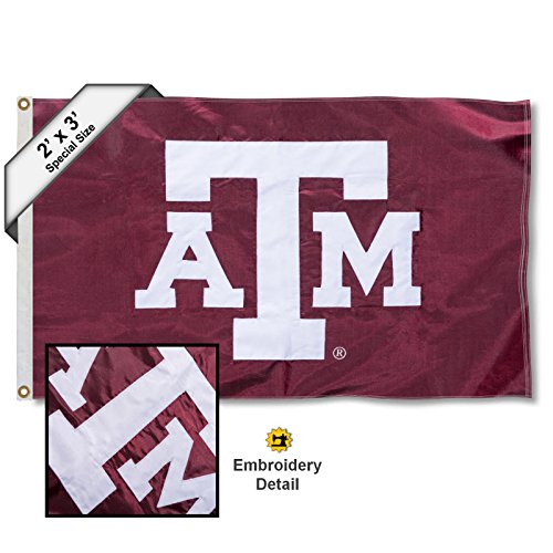 (College Flags and Banners Co. Texas A&M Aggies 2x3 Foot Embroidered Flag)