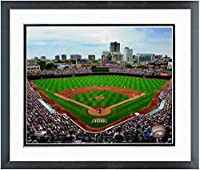 "Wrigley Field Chicago Cubs MLB Stadium Photo (Size: 12.5"" x 15.5"") Framed"
