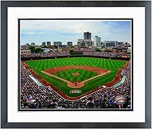 "Wrigley Field Chicago Cubs MLB Stadium Photo (Size: 12.5"" x 15.5"") Framed"
