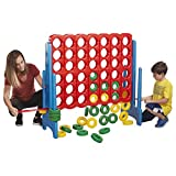 ECR4Kids Jumbo 4-To-Score Game Set - Giant Sized Fun for Kids and Adults - 4 Feet Tall, Primary Colors