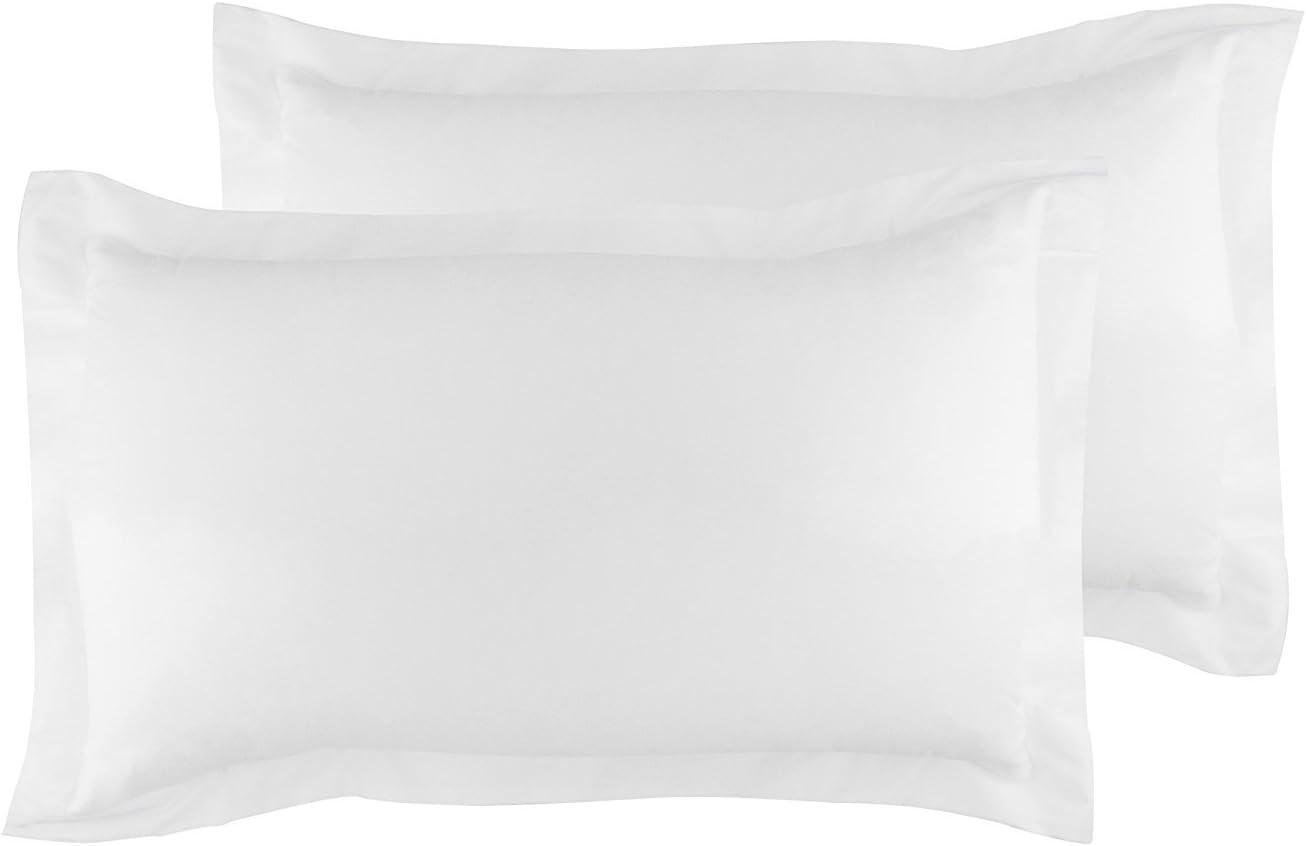 La Vie Moderne Premium 400 Thread Count Pure Cotton Pillow Shams | Set of 2 | King/White