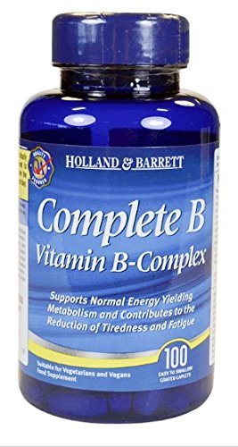 Complete B Vitamin B-Complex 100 easy to swallow coated caplets For Sale