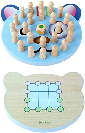 Kawosh Juego de ajedrez Memory Stick de Madera, Juego de ajedrez Juegos de Memoria de Madera Memory Chess Educational Wooden Children: Amazon.es: Hogar