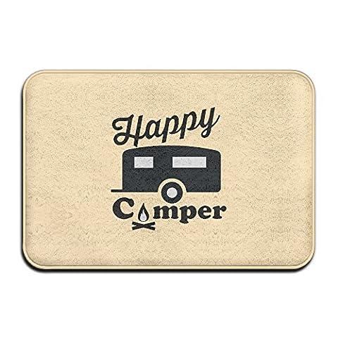 Happy Camper Camp Fire Funny Humor Cool Welcome Doormat Outdoor (Humor Doormat)
