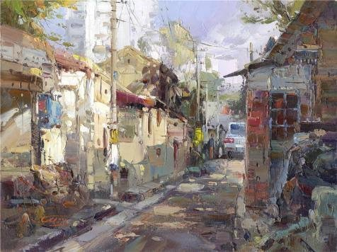 High Quality Polyster Canvas ,the Best Price Art Decorative Prints On Canvas Of Oil Painting 'the Landscape: The Antiquated Alley', 16x21 Inch / 41x54 Cm Is Best For Bedroom Artwork And Home Decoration And Gifts