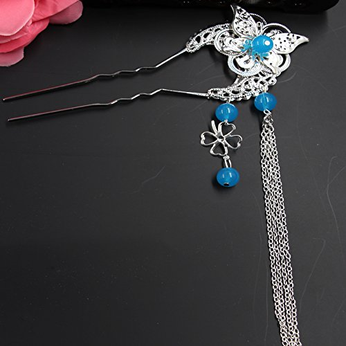 - Custom jewelry retro classic Bob antiquity ancient hairpin step shake fringed costume headdress hair accessories female Han Chinese clothing for women girl lady