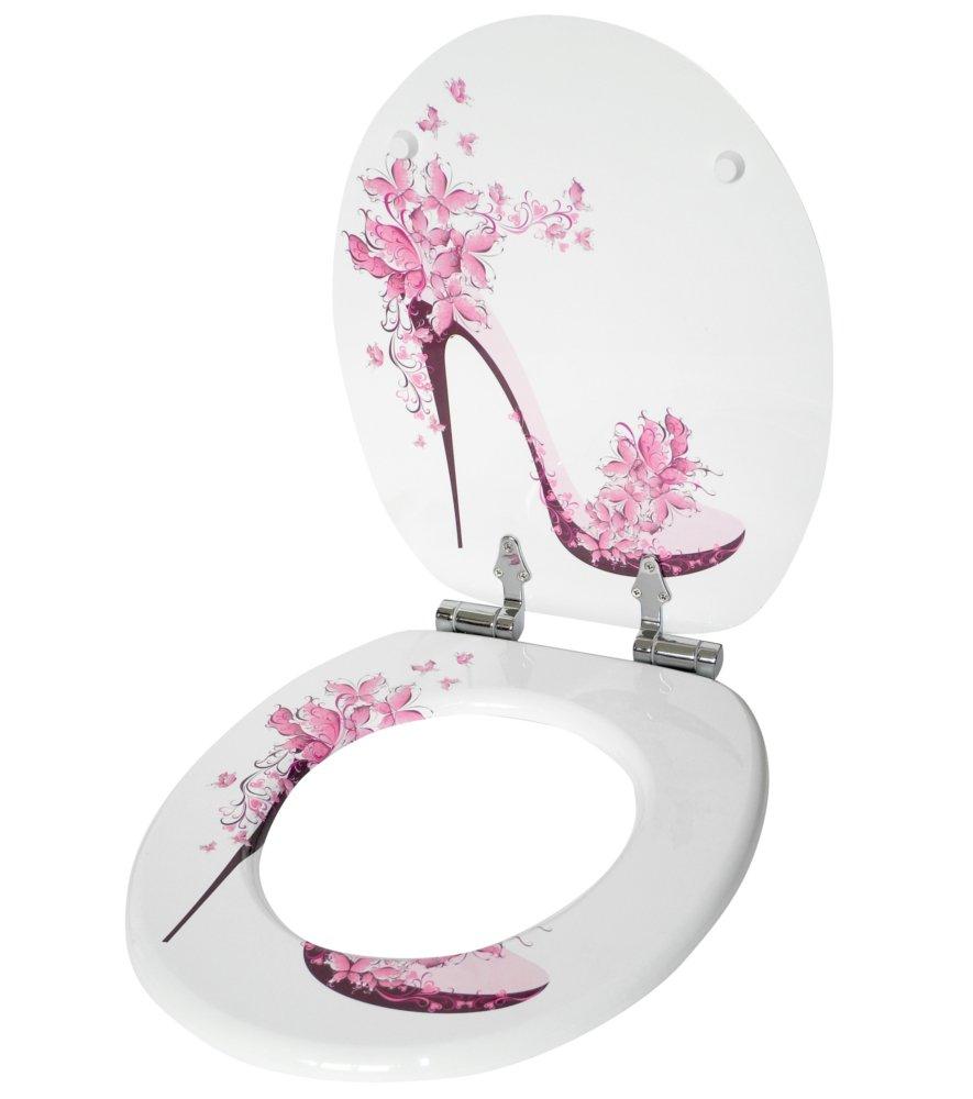 Fixation facile Abattant WC frein de chute soft close Finition de haute qualit/é Chaussure
