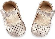 Babelvit Baby Toddler Girls Mary Jane Flats with Bow Anti Slip Rubber Sole Infant Walking Shoes Flower Princess Dress Weddin