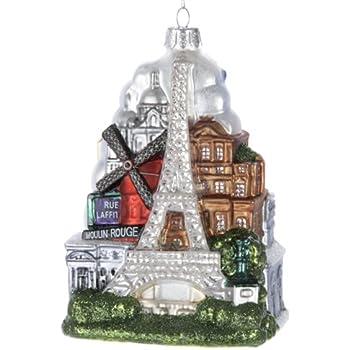 "Kurt Adler 5-Inch Glass ""Paris City"" Ornament"