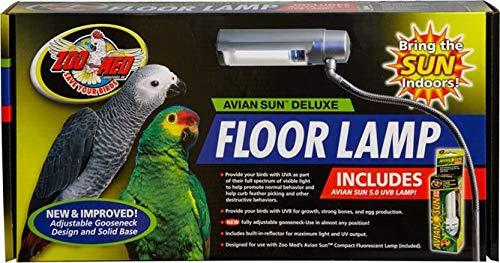 Zoo Med Labs Aviansun Deluxe Floor Lamp with Aviansun (Zoo Med Bird)