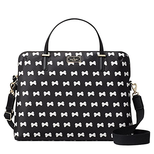 Kate Spade New York Wilson Road Bow Daveney Laptop Bag - (Bow Trim Shoulder Bag)