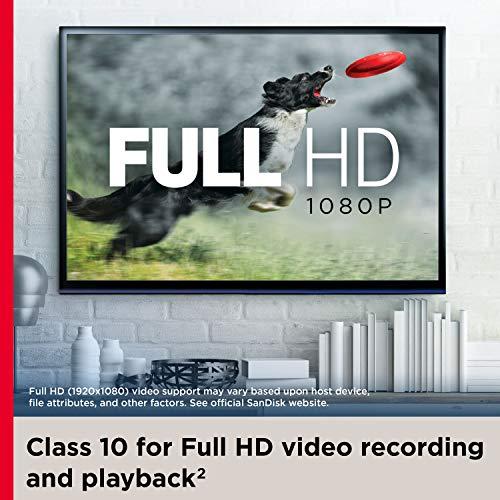 SanDisk 256GB Ultra microSDXC UHS-I Memory Card with Adapter - 120MB/s, C10, U1, Full HD, A1, Micro SD Card - SDSQUA4-256G-GN6MA