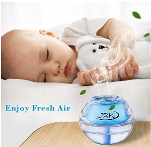 7 Color Changing Air Humidifier LED Nightlight for Home, Room, Office, Bedroom, Travel, Desk, Table, Parties, Baby, Child, Youth, Adult | Fun Diffuser with Auto Shut-off, USB, Adapter, Filter 4-8 Hrs by JZK International (Image #5)