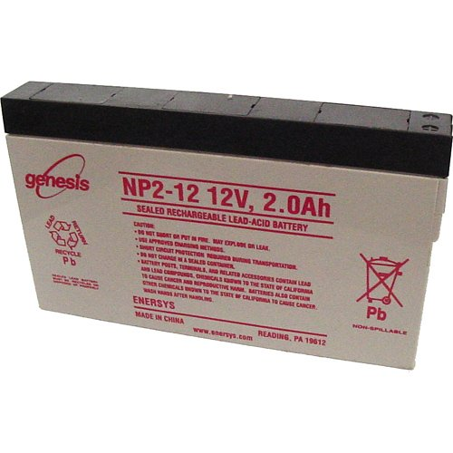 Enersys Genesis NP2-12, 2Ah 12V Sealed Rechargeable Lead Acid - 2 12v Battery Ah