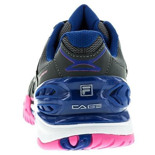 Fila Womens Cage Delirium Sneakers Atletiche Mesh Dark Shadow, Pink Glo, Royal Blue