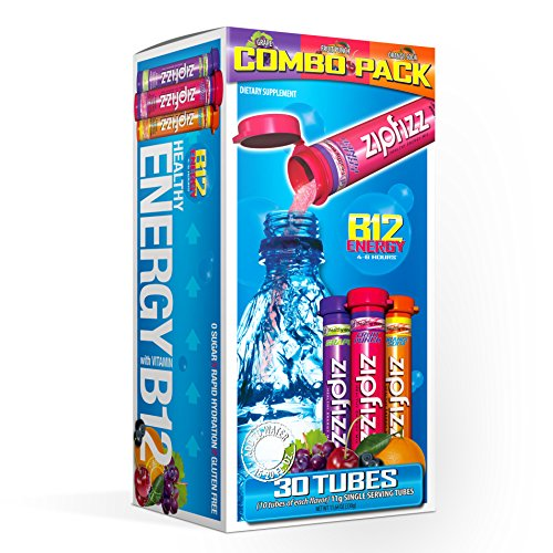 - Zipfizz Healthy Energy Drink Mix, Hydration with B12 and Multi Vitamins, Variety Pack, 30 Count