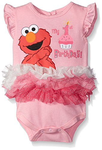 Elmo Girl Clothes - Disney Baby-Girls Elmo My First Birthday
