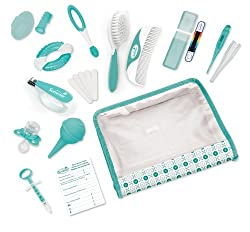 The Complete Nursery Care Kit includes 21 grooming and health care items essential for any nursery. A durable storage case is included so parents can keep each item conveniently close at hand at home or on-the-go.