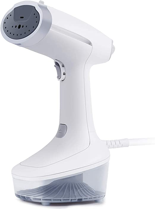 Electric Hand Held Garment Steamer Portable Clothes Fabric Steam Cleaner Vertical Iron Steamer Fast Heating Steamer for Home Travel White