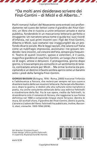 Il giardino dei Finzi-Contini (Universale economica): Amazon.es: Bassani, Giorgio: Libros en idiomas extranjeros