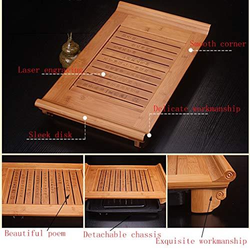Bamboo Tea Tray Home Simple Living Room Bamboo Tea Table Kung Fu Tea Set Tray Chinese Tea Set Tray Table Tea Set Tea Tray Coffee Table Wooden Tea Tray Tea Set Tea Table Chinese Tea Culture by GQQ (Image #7)