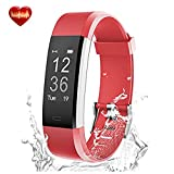 Fitness Tracker Watch Sleep Monitor Heart Rate Monitor X5 Plus HR Fitness Watch Activity Tracker Waterproof Bluetooth Wireless Smart Wristband Bracelet Pedometer for Android and IOS Phones (Red)