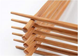 JapanBargain 3650, Bamboo Chopsticks Reusable Japanese Chinese Korean Wood Chop Sticks Hair Sticks 5 Pair Gift Set Dishwasher Safe, 9 inch, Twist