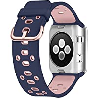 For Apple Watch Bands 38mm, Soft Silicone Sport Strap...