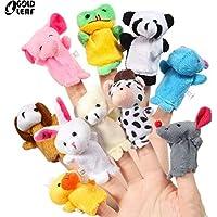GOLDLEAF Animal Soft Hands Finger Puppets (Set of 10)