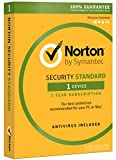 Norton Security Standard – 1 Device, 1 Year Pre-Paid Subscription, Renews automatically for uninterrupted protection [PC/Mac/Mobile Download]