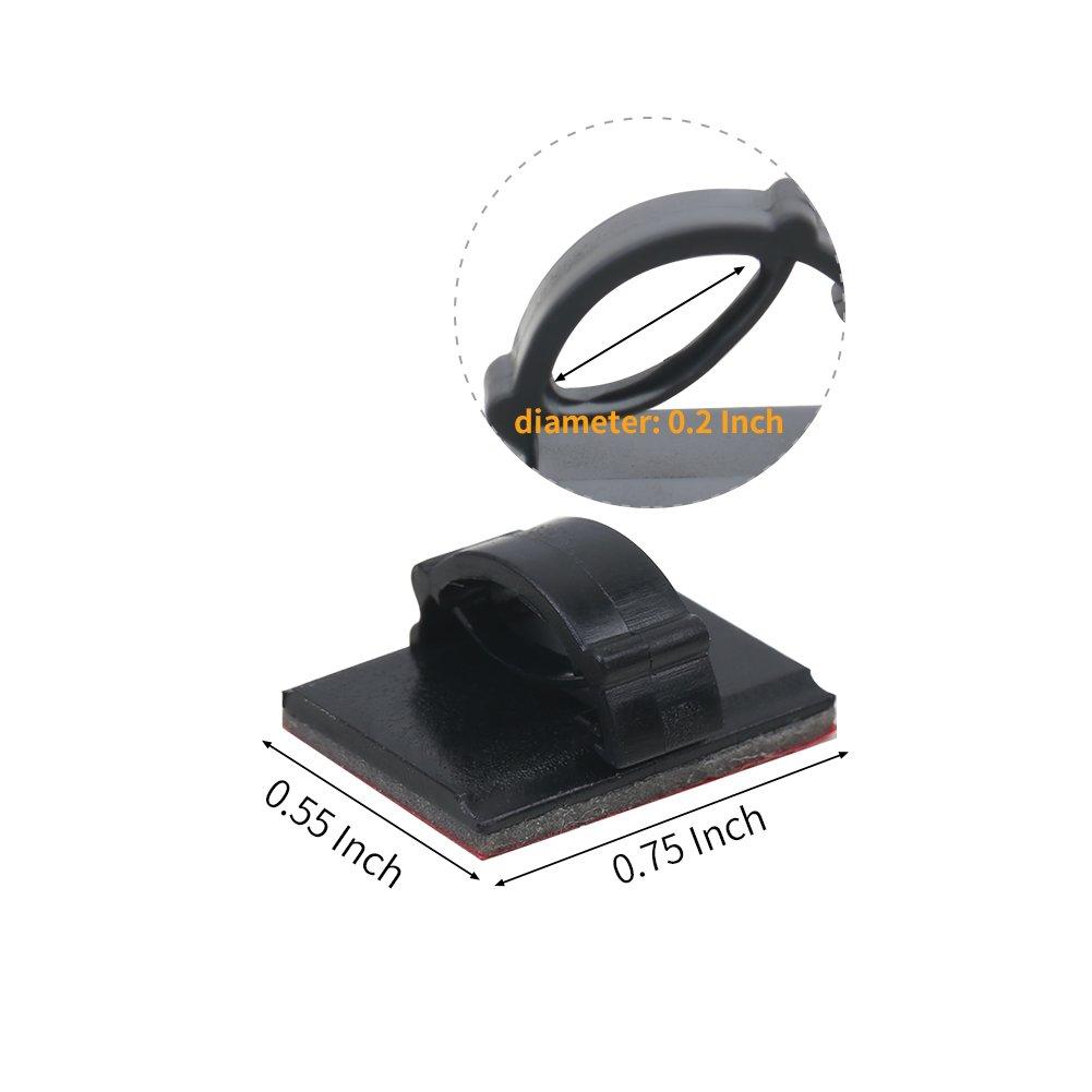 Wei/ß+Schwarz Shintop 200 St/ück 3M Kabelklammern Selbstklebend Daheim oder im B/üro Kabelclips f/ür das Auto
